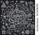 poster for the birthday...   Shutterstock .eps vector #567608359