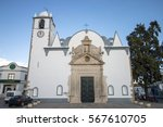 view of the main church of luz... | Shutterstock . vector #567610705