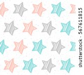 soft pastel star seamless... | Shutterstock .eps vector #567611815
