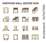 vector icon of partition wall... | Shutterstock .eps vector #567627001