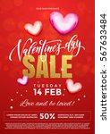 valentines day sale text banner ...   Shutterstock .eps vector #567633484