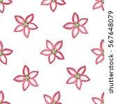 hand drawn watercolor flower... | Shutterstock . vector #567648079