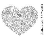line art vector hand drawn set... | Shutterstock .eps vector #567650881
