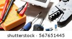 selection of electrical... | Shutterstock . vector #567651445