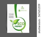 vector eco flyer  poster ... | Shutterstock .eps vector #567651559
