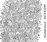 cartoon cute doodles hand drawn ... | Shutterstock .eps vector #567652099