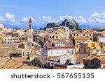 view of the corfu town  corfu... | Shutterstock . vector #567655135
