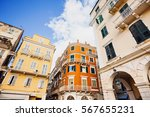 Colorful Houses Of The Corfu...