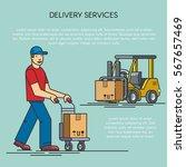 outline flat illustration of... | Shutterstock .eps vector #567657469