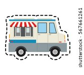 ice cream car icon | Shutterstock .eps vector #567661261