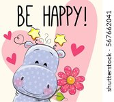 Be Happy Greeting Card Cute...