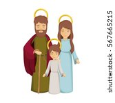 colorful image with jesus child ... | Shutterstock .eps vector #567665215