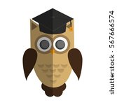 owl cartoon icon | Shutterstock .eps vector #567666574