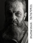 black and white portrait... | Shutterstock . vector #567670921