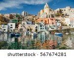 scenic view of procida island... | Shutterstock . vector #567674281