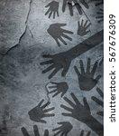 shadow of hands  | Shutterstock . vector #567676309