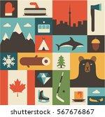canada  vector flat... | Shutterstock .eps vector #567676867