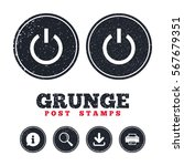 grunge post stamps. power sign... | Shutterstock .eps vector #567679351