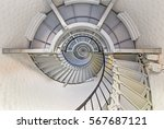 A Spiral Staircase Winds To Th...
