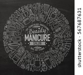 chalkboard vector hand drawn... | Shutterstock .eps vector #567687631