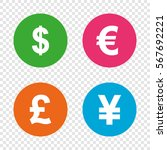 dollar  euro  pound and yen... | Shutterstock .eps vector #567692221