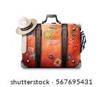 Retro Suitcase Of A Traveler...