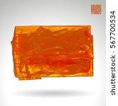 brush stroke and texture.... | Shutterstock .eps vector #567700534