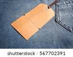 cardboard label tied with... | Shutterstock . vector #567702391