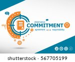 commitment design  and... | Shutterstock .eps vector #567705199