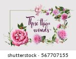 postcard with flowers | Shutterstock . vector #567707155