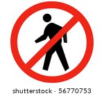 no trespassing sign isolated... | Shutterstock . vector #56770753