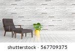 modern bright interior . 3d... | Shutterstock . vector #567709375