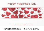 poster with hearts from red... | Shutterstock .eps vector #567711247