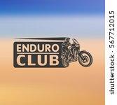 motocross enduro race driver... | Shutterstock .eps vector #567712015