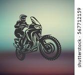 motocross enduro race driver... | Shutterstock .eps vector #567712159