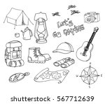 set of hand drawn sketch... | Shutterstock .eps vector #567712639