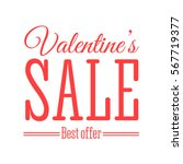 valentines day sale offer.... | Shutterstock .eps vector #567719377