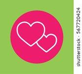 couple hearts love valentine... | Shutterstock .eps vector #567720424