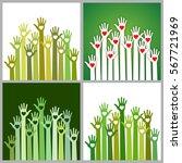 set of bright  green white... | Shutterstock .eps vector #567721969