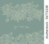 floral background   Shutterstock .eps vector #56772238
