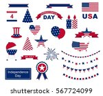 usa celebration flat national... | Shutterstock . vector #567724099