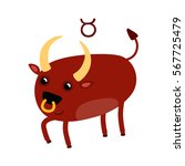 taurus funny zodiac sign | Shutterstock .eps vector #567725479