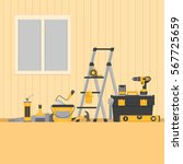 home repair banner. hand tools... | Shutterstock .eps vector #567725659