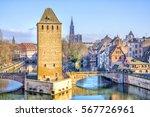 view on medieval bridge ponts...   Shutterstock . vector #567726961