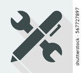 wrench and pen   design project ... | Shutterstock .eps vector #567727897