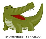 cute crocodile   vector | Shutterstock .eps vector #56773600