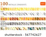 hundred  metal gradients  .... | Shutterstock .eps vector #567742627