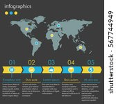 infographics template with... | Shutterstock .eps vector #567744949