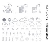 mega pack of weather icons with ... | Shutterstock .eps vector #567748441