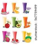 fruit juice vector | Shutterstock .eps vector #567759499